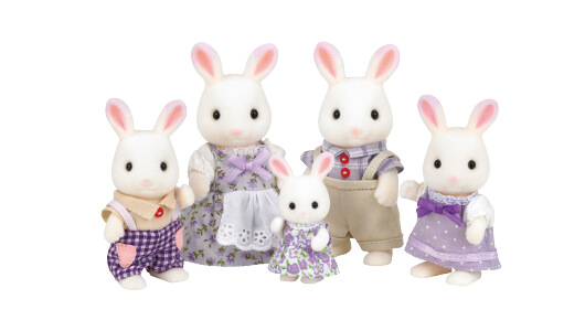 Lavender Rabbit Family