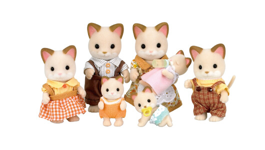 Cream Cat Family