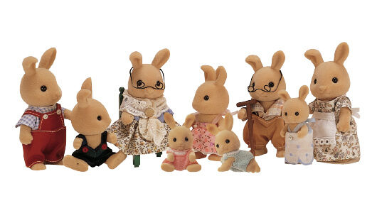 Ivory Rabbit Family