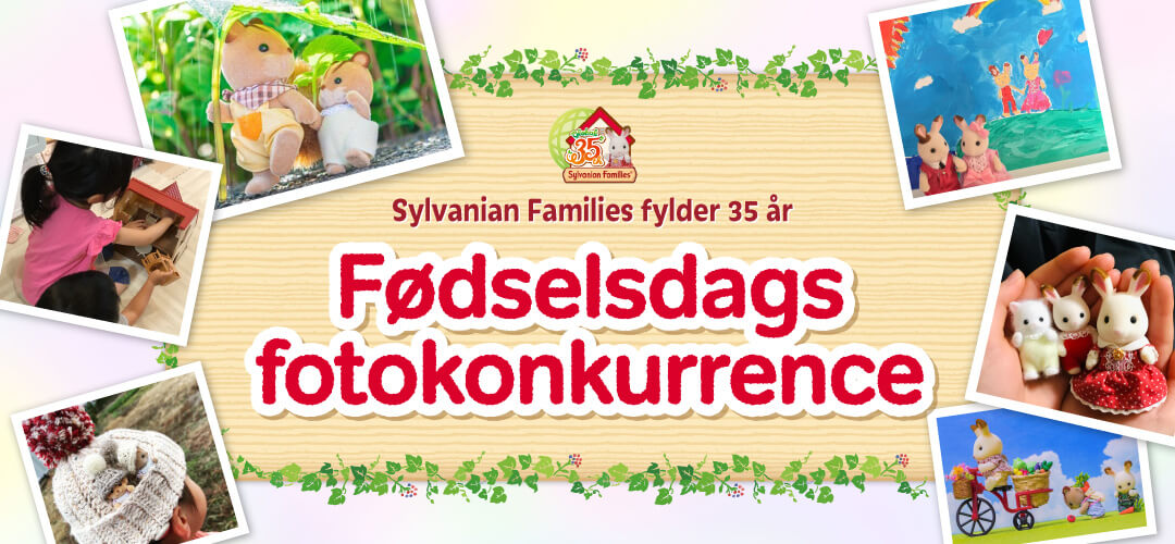 Sylvanian Families fylder 35 år Fødselsdags fotokonkurrence